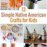Are you learning about Native American History? Check out this list of 13 Native American Craft for Kids including headbands, teepees, drums, handprints & more.