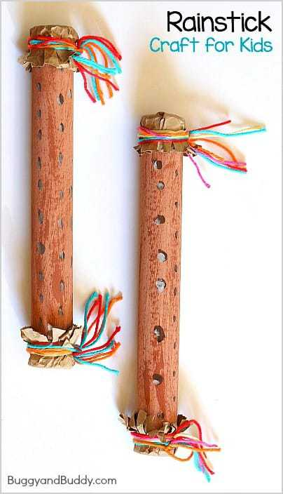 how to make a Native American rain stick with feathers