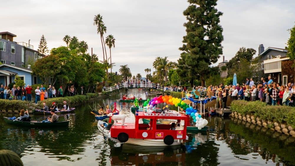 Venice Canals Holiday Boat Parade