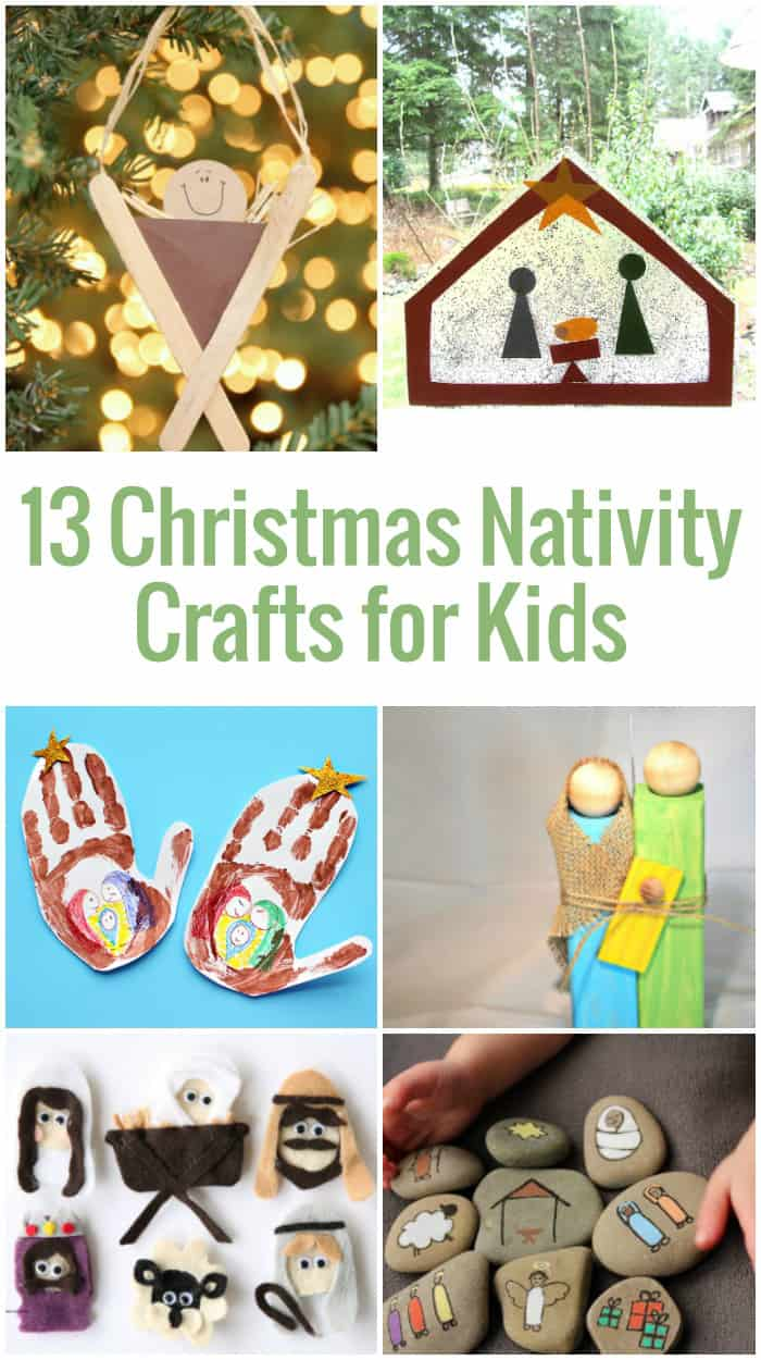 Easy to make nativity scene crafts for kids