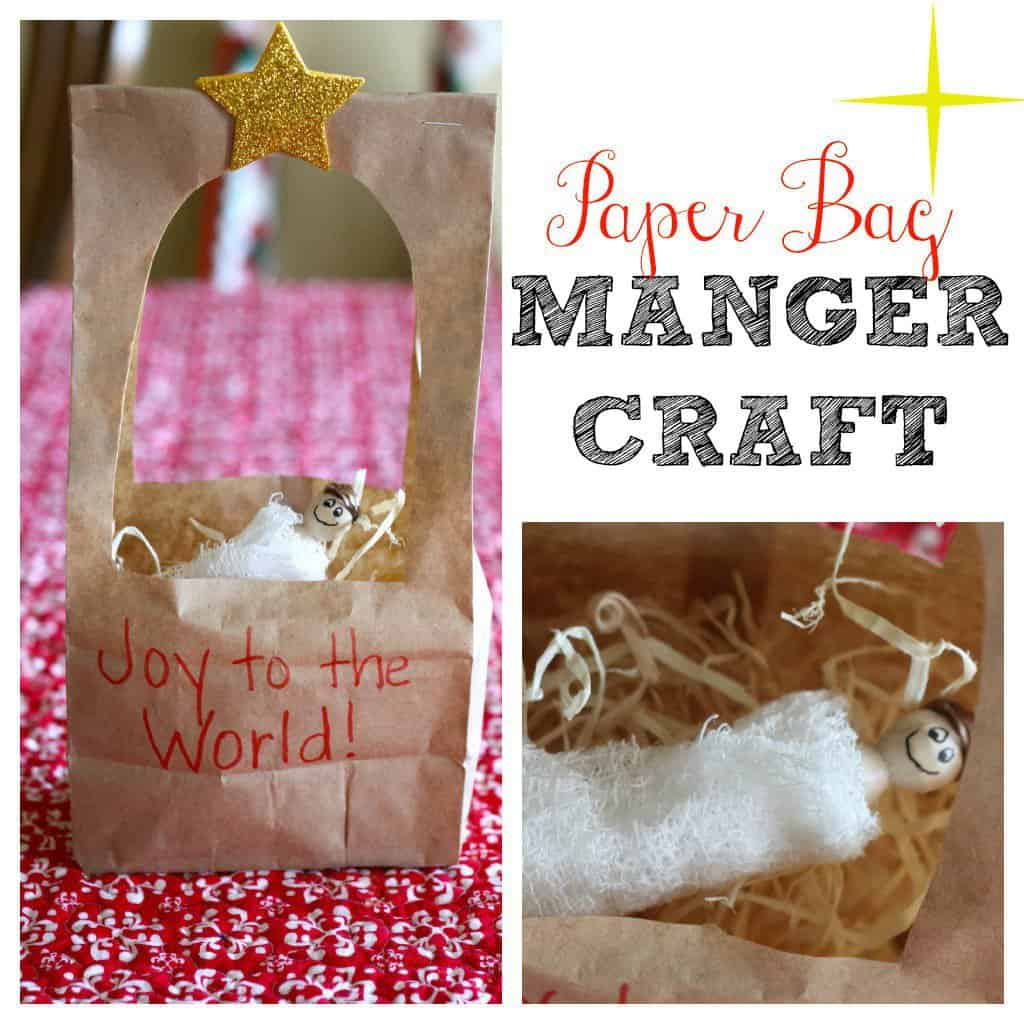 paper bag manager craft for kids