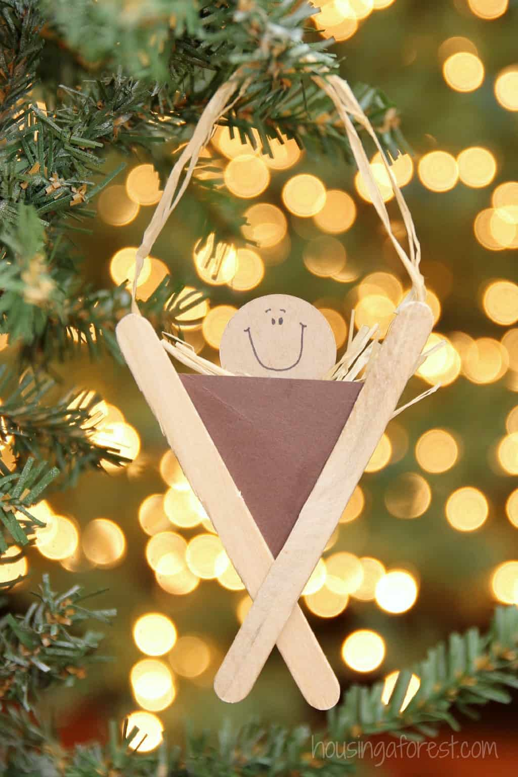 popsicle stick baby Jesus craft for preschool