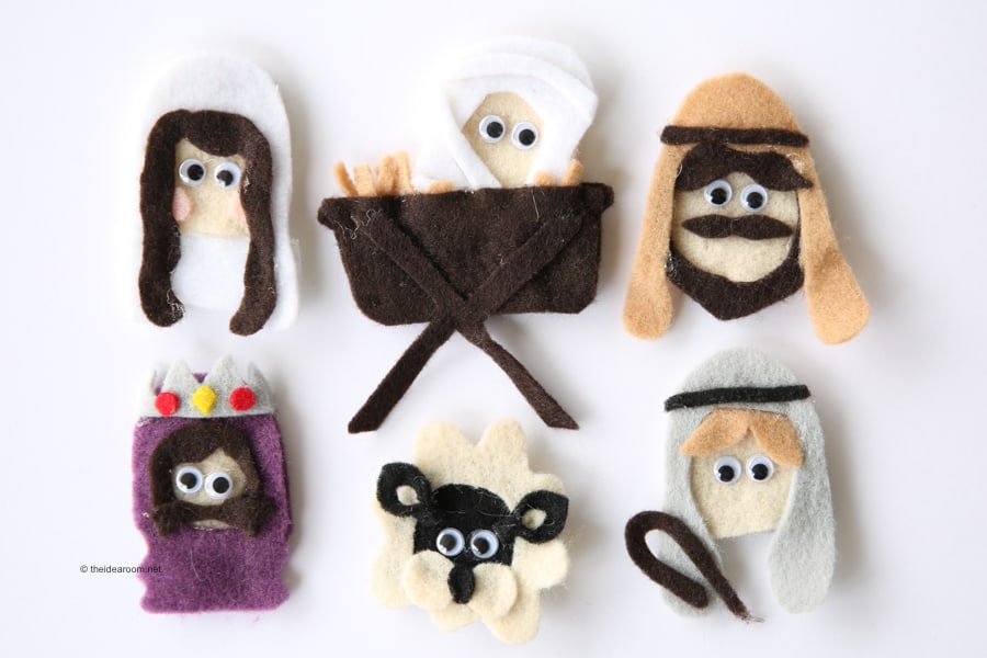 Nativity Scene Craft made out of finger puppets