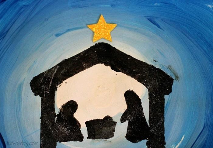 simple nativity scene paint craft