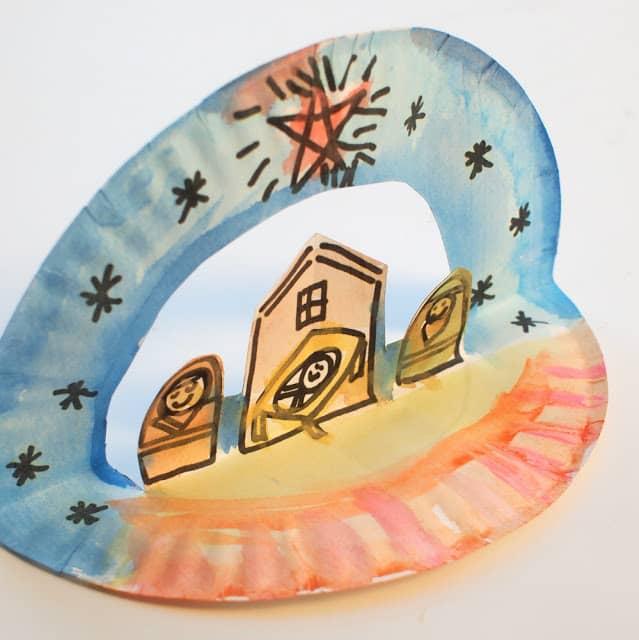 paper plate nativity scene craft