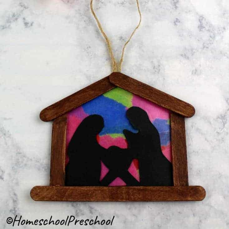 easy nativity scene Christmas ornament