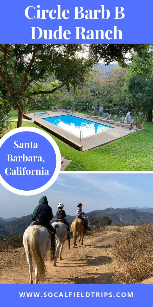 Have you ever dreamed of staying on a dude ranch? Circle Bar B Resort in Santa Barbara, California offers guests the opportunity to go horseback riding, relax by the pool or take a scenic hike on one of the many beautiful trails that surround the 1,000 acres property. #duderanch #california #santabarbara #travel #familytravel #roadtrip #horsebackriding