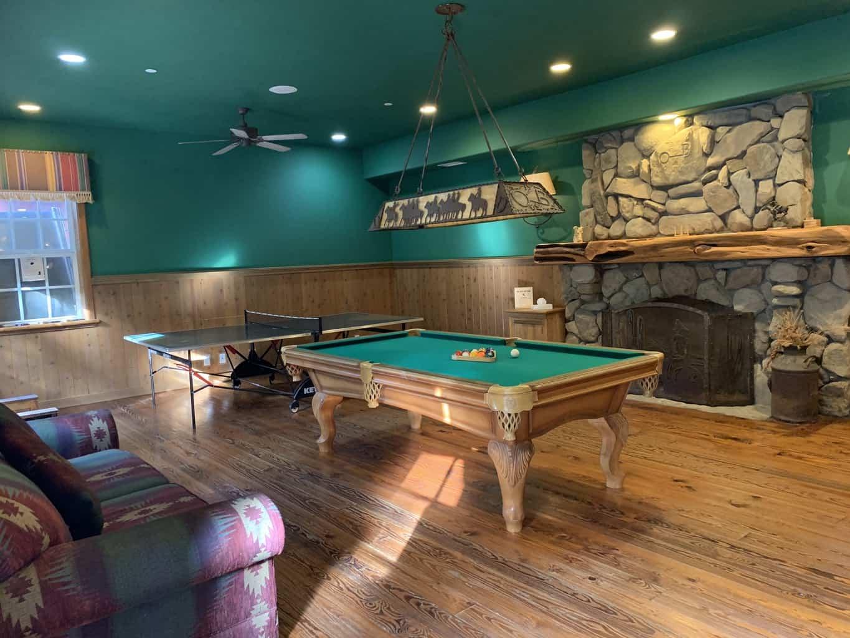 Game room at Circle Bar B Ranch Santa Barbara