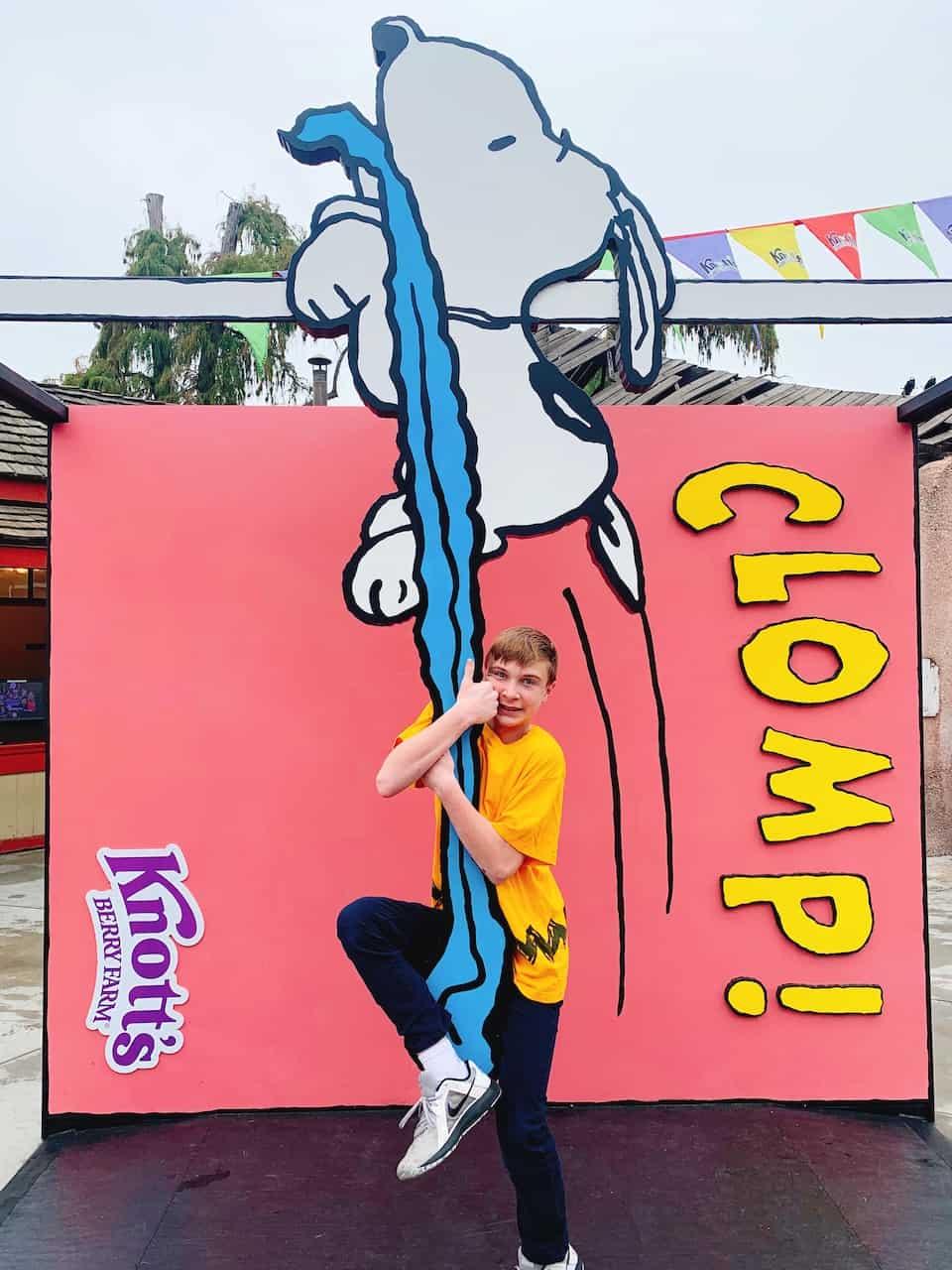 Boy at 2020 Knott's Peanuts Celebration