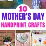 Check out this list of10 Beautiful Mother's Day Handprint Crafts that children of all ages can make and create for the important mother figures in their lives!