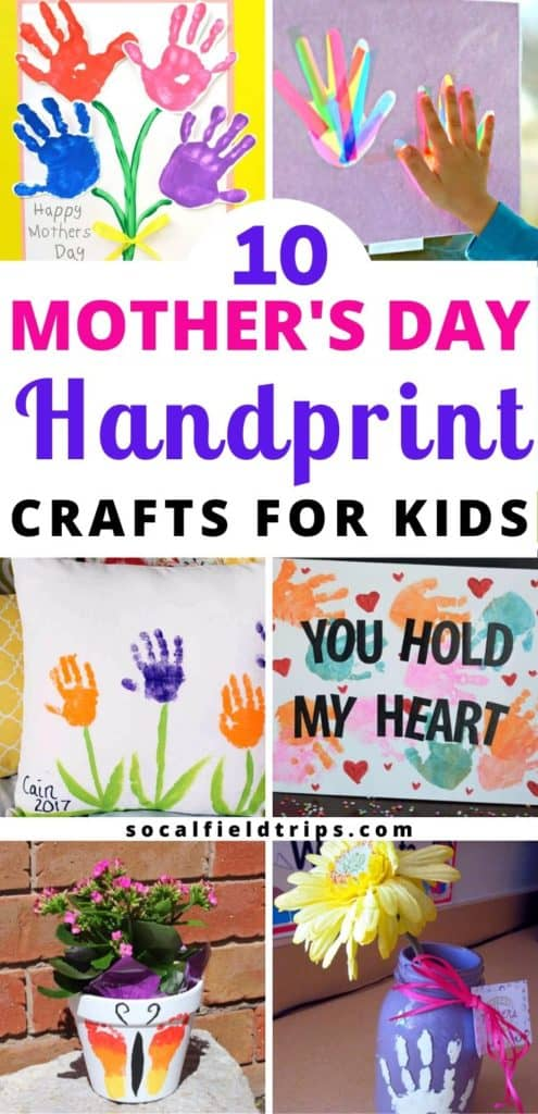 Check out this list of 10 Beautiful Mother's Day Handprint Crafts that children of all ages can make and create for the important mother figures in their lives!