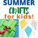Are you looking fun summer activities for kids that don't cost a lot of money? Check out this list 25 Summer Crafts for Kids that are inexpensive, easy, great for all age groups and perfect to do indoors or outdoors.