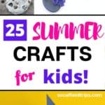 Are you looking fun summer activities for kids that don't cost a lot of money? Then check out this list 25 Summer Crafts for Kids that are inexpensive, easy, great for all age groups and perfect to do indoors or outdoors.