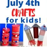 Check out these 25 4th of July Crafts for Kids! Our fun and easy Fourth of July crafts are great to make as decorations for a party or as cute hats or wands to take with you to a 4th of July parade. They are so easy even preschoolers and toddlers make them!