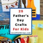 Are you looking for a homemade present for Father's Day that kids can make? Make one of these 25 Father's Day Crafts for Kids! Perfect for preschoolers and elementary school children to make for their dads, grandfathers and uncles.