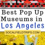 Check out this list of 10+ Pop Up Museums in Los Angeles where guests are encouraged to laugh, smile, and have fun, all the while doing crazy things like riding a colorful cookie carousel or diving into a bowl of fruit. #museum #museums #travel #travelblogger #la #losangeles