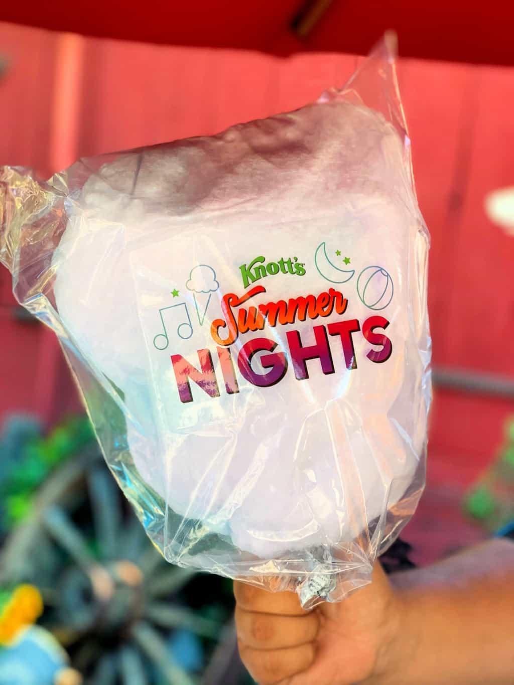 Cotton Candy at Knott's Summer Nights in California