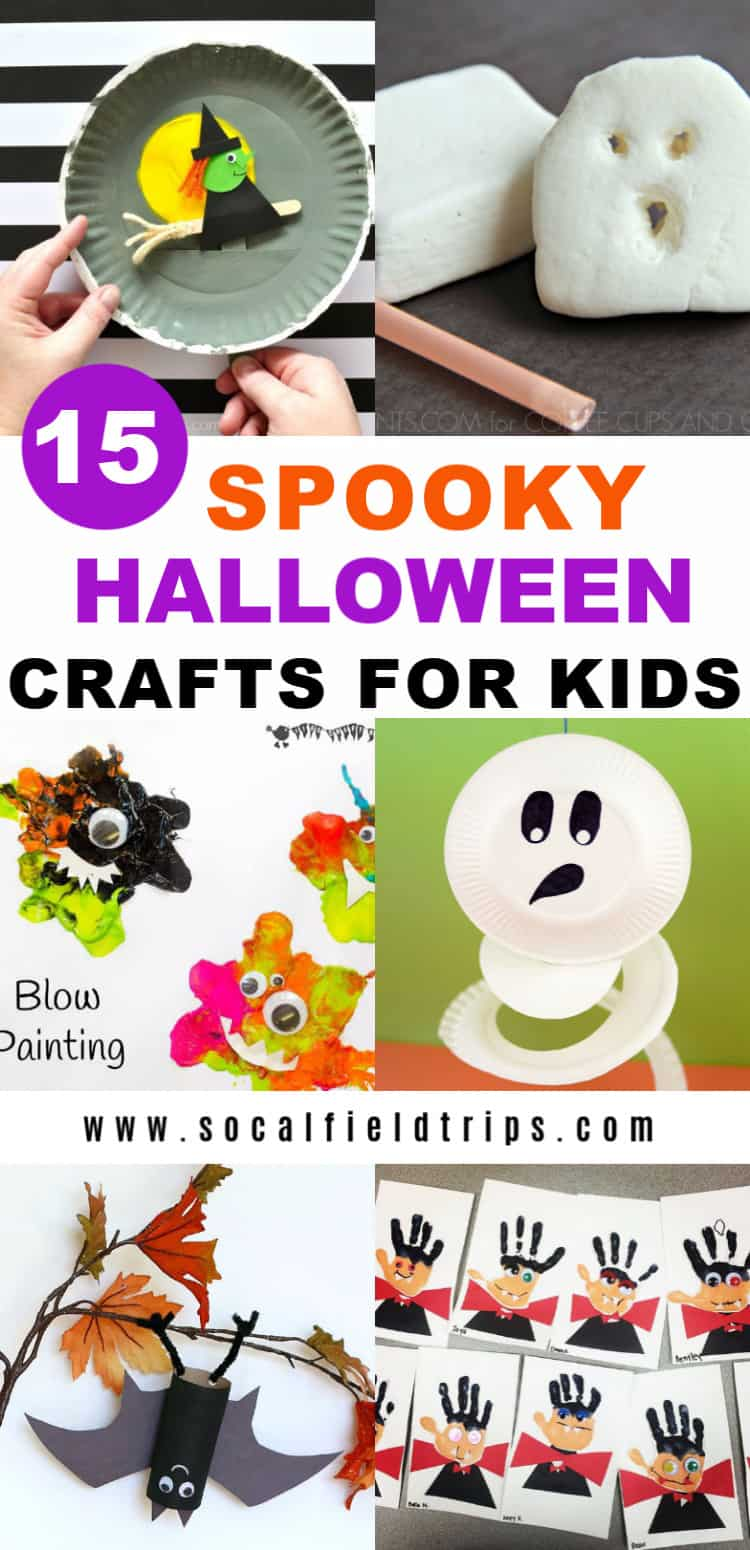 Are you looking for a fun Halloween craft to make? Check out this list of 15 Spooky Halloween Crafts For Kids that are easy to create, doesn't cost a lot of money and uses very little supplies. Click here to learn more!