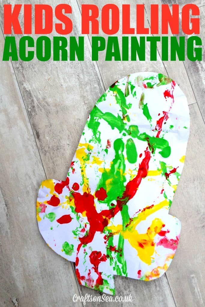 Paint with acorns craft for kids