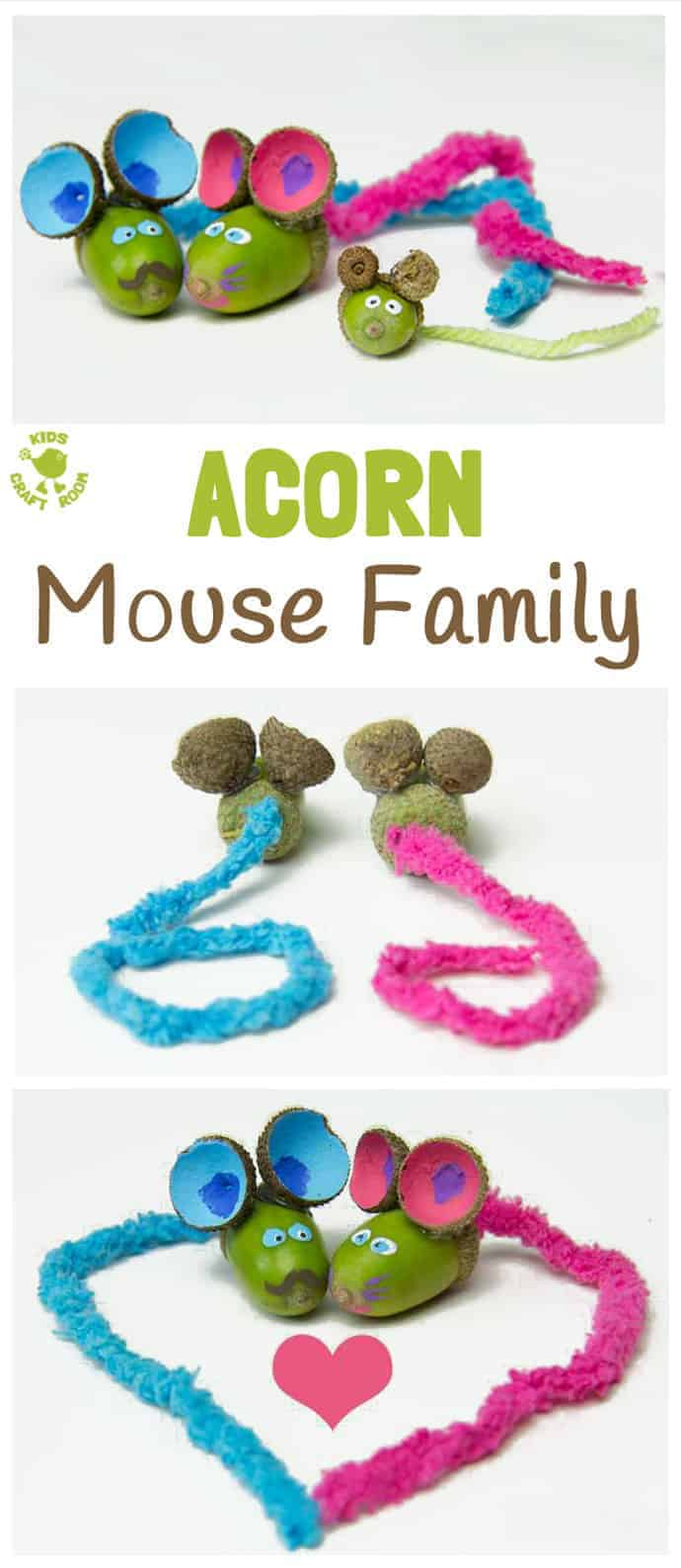 Simple acorn craft for kids