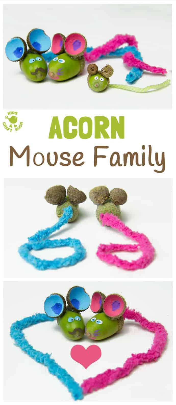 Simple acorn craft for kids