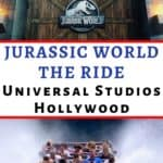 """Do you like the chain of """"Jurassic Park"""" movies? Then you're going to love the new Jurassic World The Ride at Universal Studios Hollywood. It is more real and more intense than ever before. Get ready to survive the new epic adventure! Are you up it? Click here to learn more. #universalstudioshollywood #hollywood #travel #familytravel #universalstudios #jurassicpark #jurassicworld"""