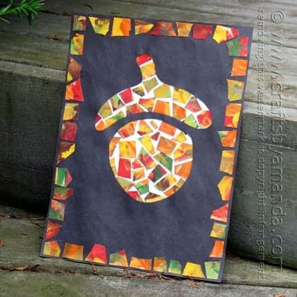 easy acorn picture craft for kids