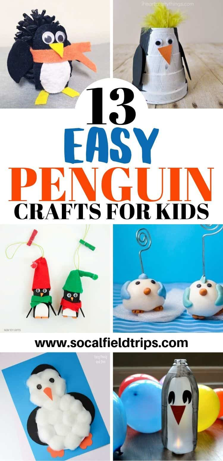 Easy Penguin Crafts - Pin Image