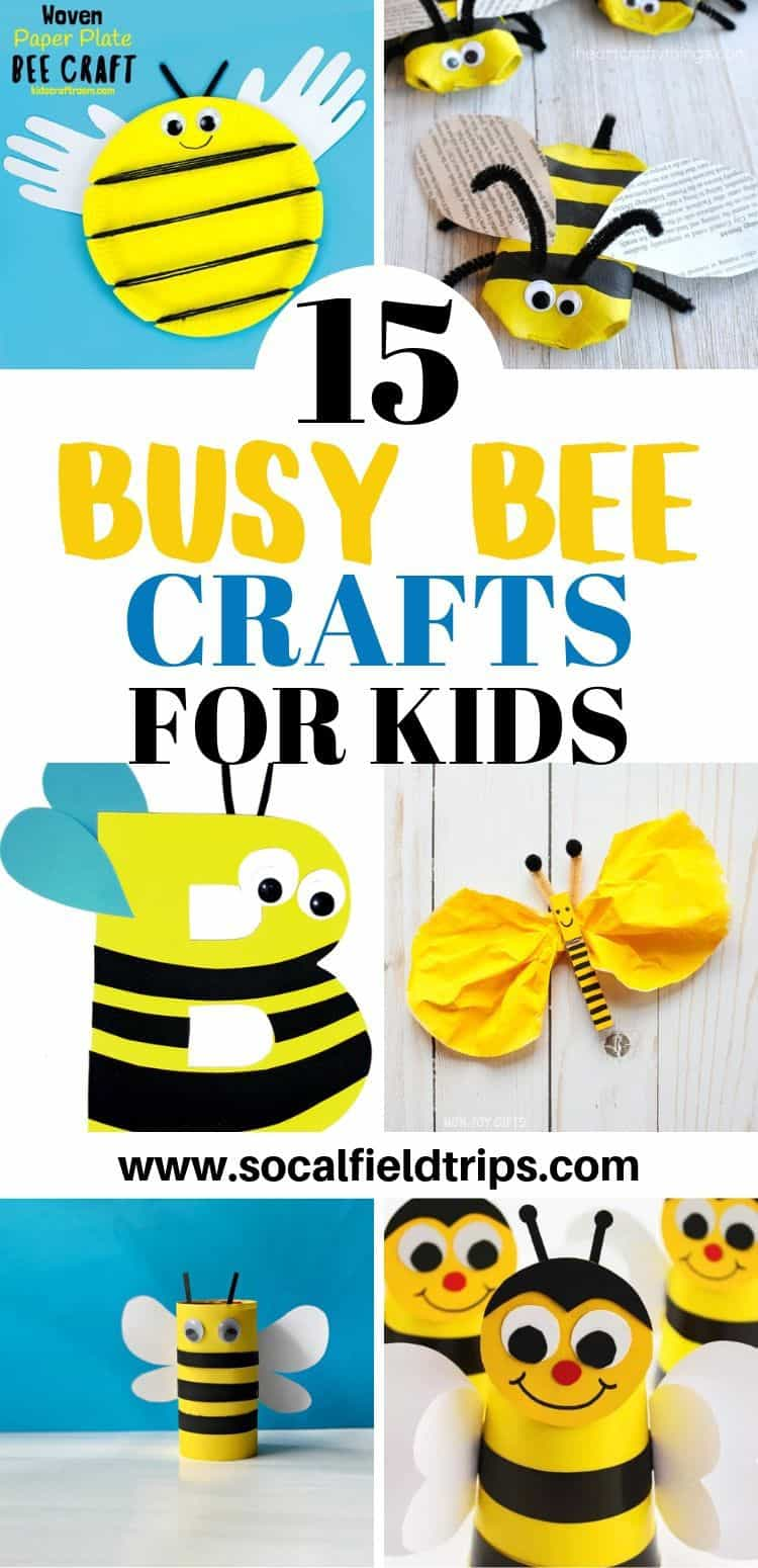 15 Busy Bee CRAFTS FOR KIDS - Pin Image