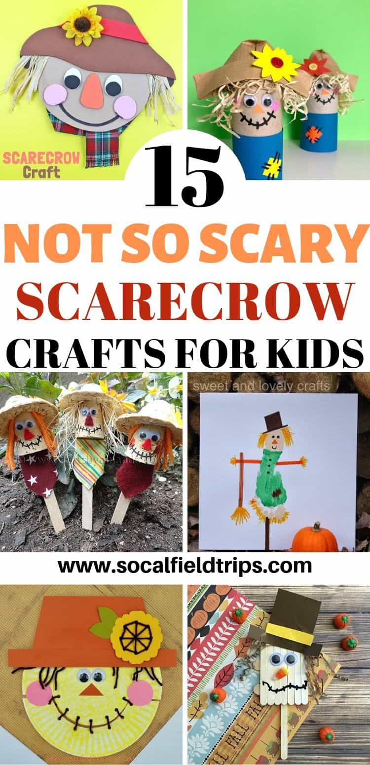 Are you looking for a fun fall craft idea? Then check out this list of 15 Not So Scary Scarecrow Crafts For Kids! These crafts are ideal for toddlers, preschoolers and early elementary school students. Plus, all you need are a few supplies and you can get started right way.