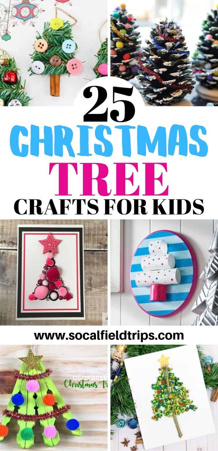 Christmas tree crafts for kids - PIN image