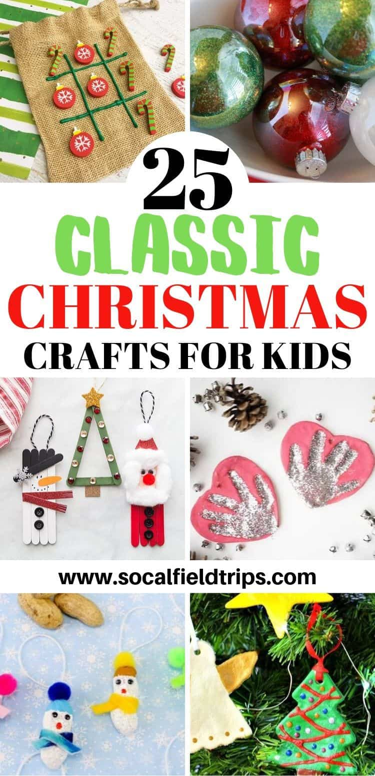 You can't help but get into the holiday spirit when you make one of these fantastic 25 Classic Christmas Crafts For Kids! From making Frosty The Snowman ornaments out popsicle sticks to creating salt dough handprint ornaments to playing a round of Christmas tic tac toe, there's bound to be at least idea for every child in your class.