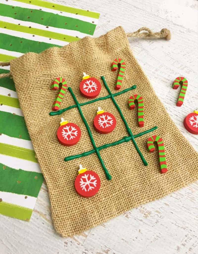 Christmas tic tac toe kids craft