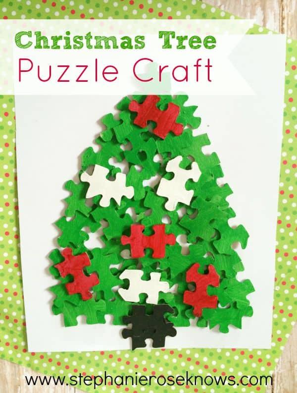 christmas tree puzzle craft