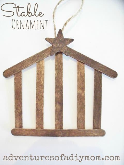 children's christmas ornament craft idea