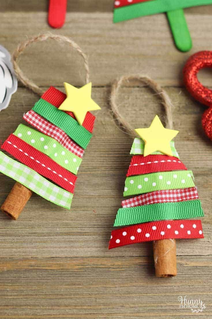 kids christmas tree ribbon