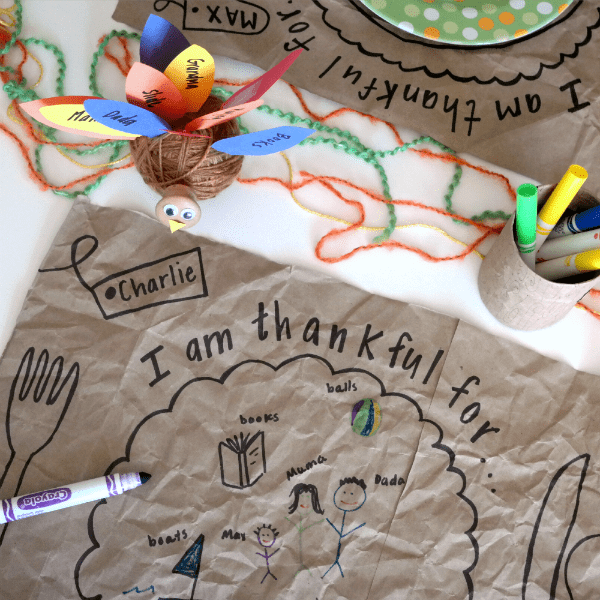 children's thanksgiving placement craft