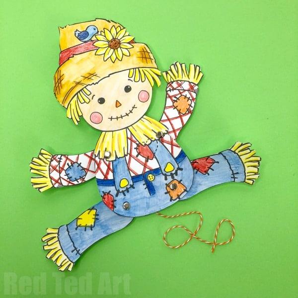 Printable Scarecrow Craft For Kids