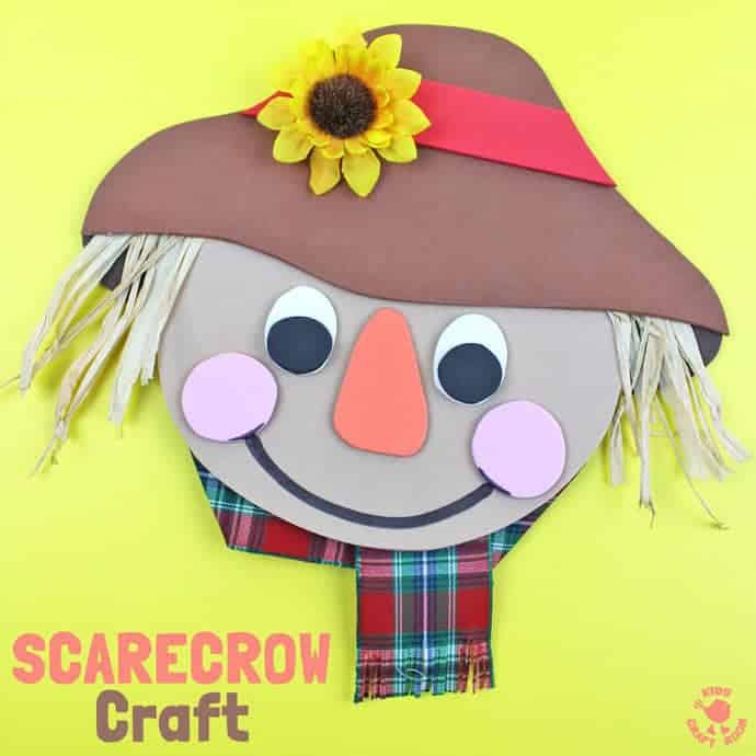 easy scarecrow craft for preschoolers