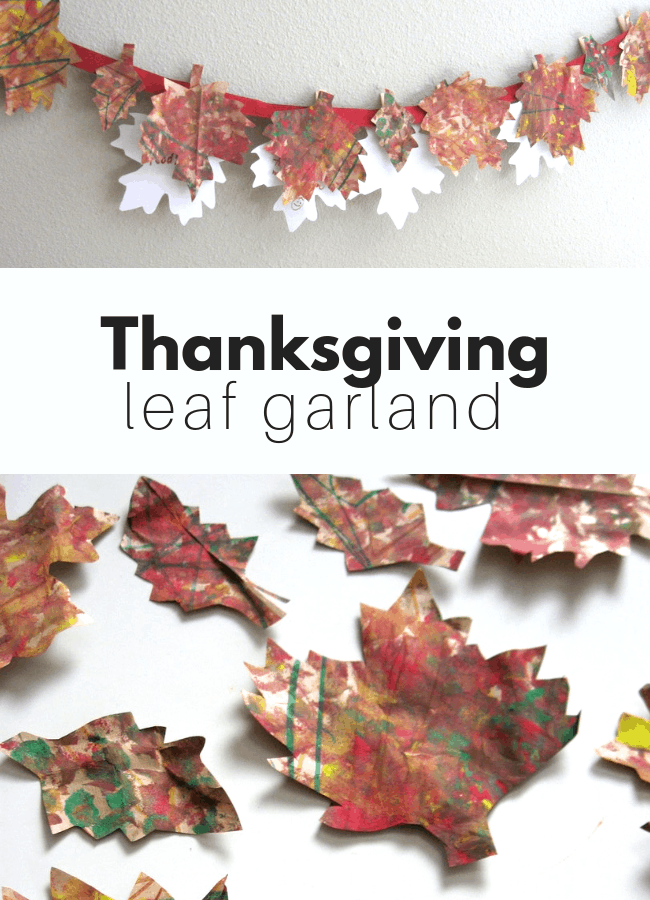 How to make a Thanksgiving Garland for kids