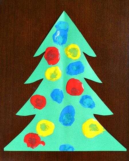 pom pom christmas tree craft
