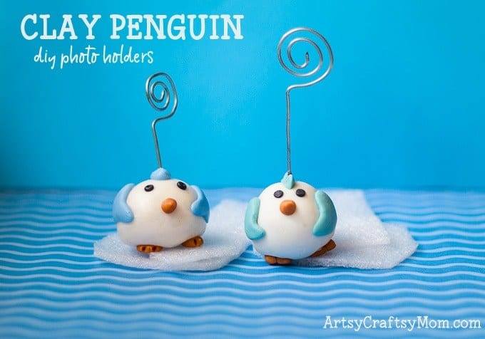 clay penguin craft for kids