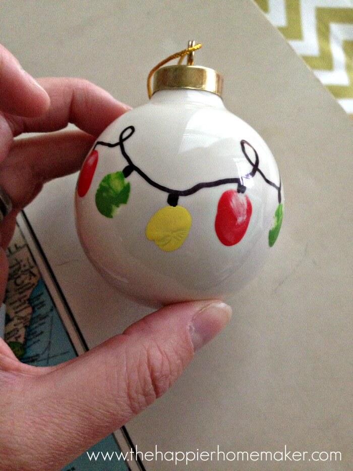 finger print christmas ornament for kids