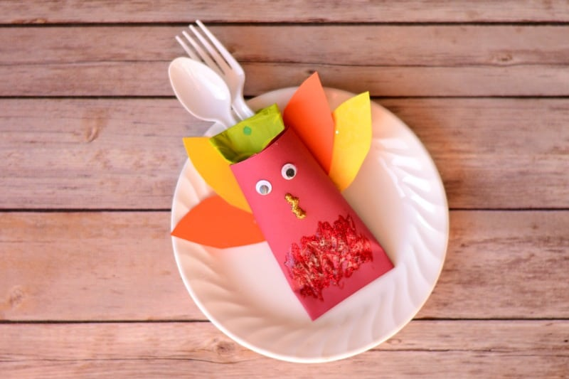 easy turkey craft for Thanksgiving