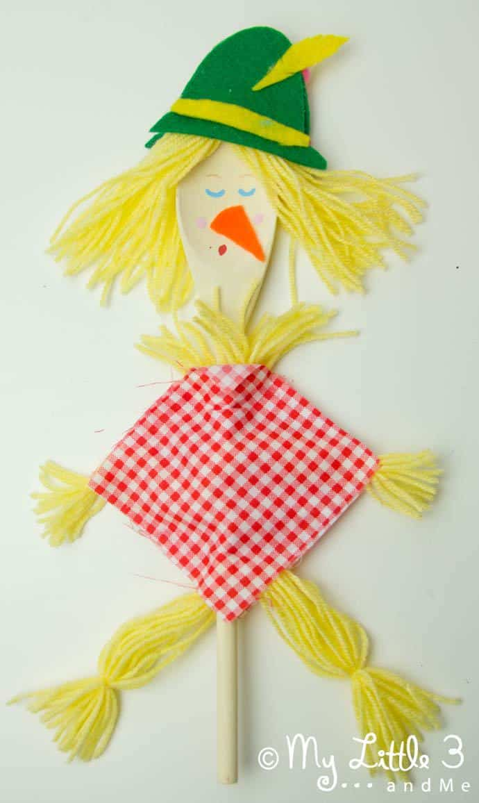 Fall scarecrow puppet