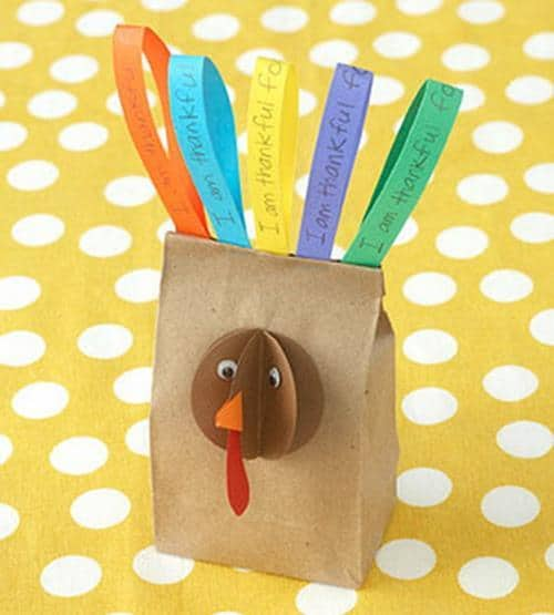 simple preschool turkey bag craft