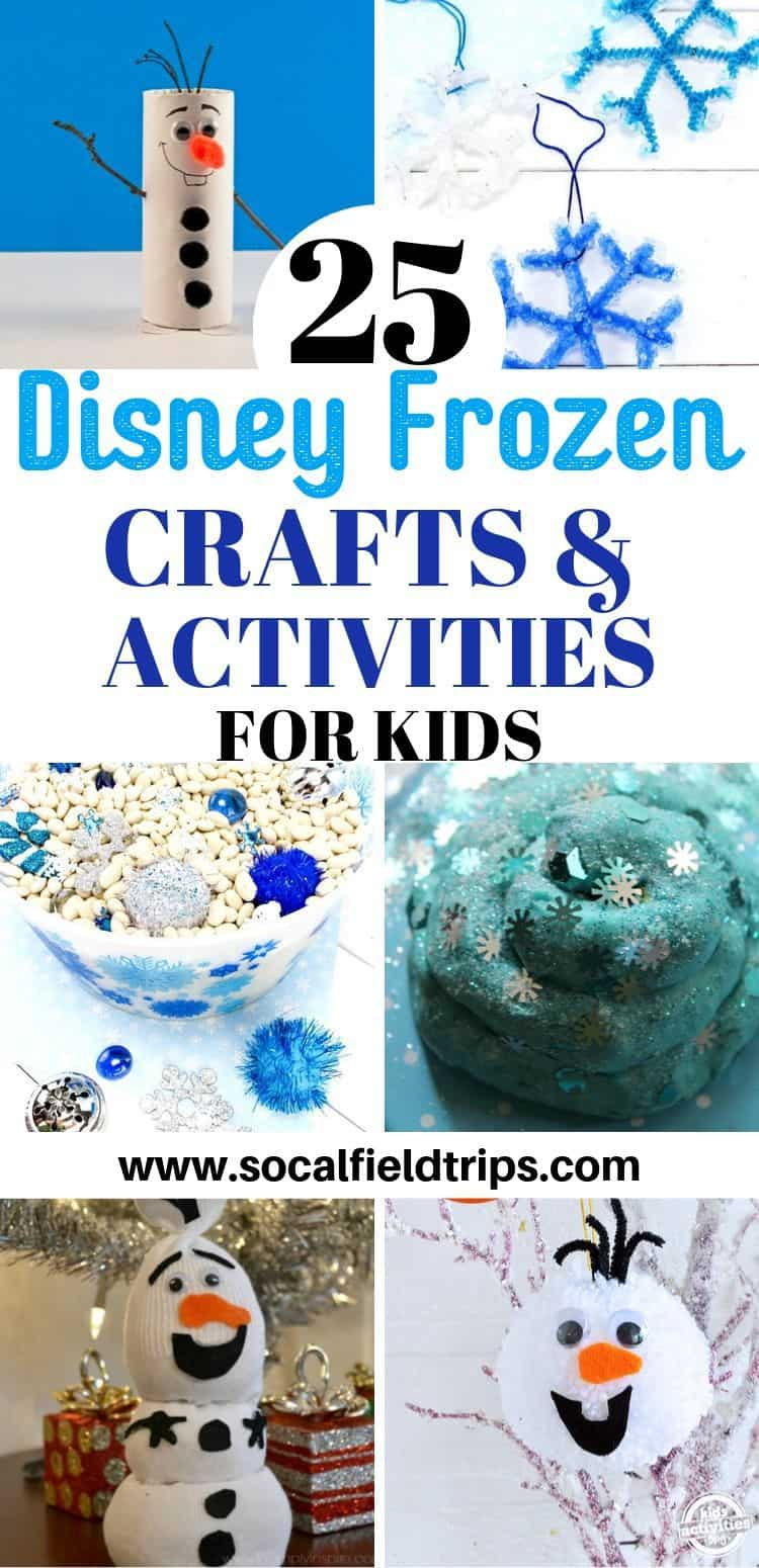 Check out this list of 25+ creative Frozen activities, crafts, sensory bins and recipes that Elsa and Anna fans will love!