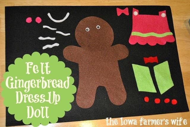 felt gingerbread man craft for kids