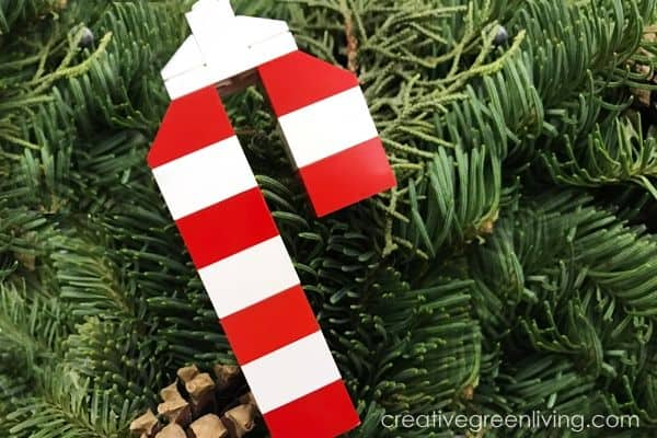 LEGO candy cane kids craft