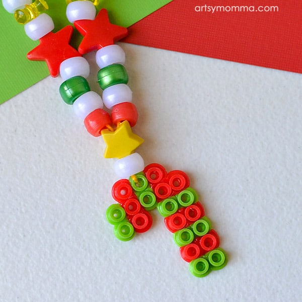candy cane necklace craft
